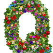 Letter Q. Christmas tree decoration — Lizenzfreies Foto