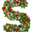Letter S. Christmas tree decoration — Foto Stock