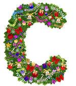 Letter C. Christmas tree decoration — Stock Photo