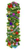 Decorazione dell'albero di natale di lettera i — Foto Stock