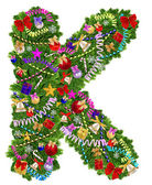 Letter K. Christmas tree decoration — Stock Photo