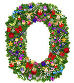Letter O. Christmas tree decoration — Stock Photo