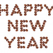 Happy New Year , made of beans coffee — Stock Photo #15823205