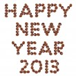 New Year 2013 made of beans coffee — Stock Photo #15823209
