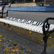 Stock Photo: Bench near liszt ferenc memorial museum