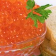 Caviar of sturgeon fish species — Stock Photo #15823269