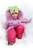 Portrait happy little girl — Stock Photo