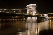 Chain Bridge in Budapest, Hungary — Stock Photo