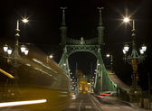 Liberty Bridge (sometimes Freedom Bridge) in Budapest, Hungary — Stock Photo
