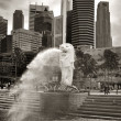 merlion fountain — Stock Photo