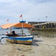 Fisherman's boat in Bandar Lampung, Sumatra, Indonesia - Stock Photo
