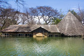 Flooded house at Lake Baringo, Kenya — Stock Photo