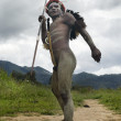 Unidentified warrior of a Papuan tribe - Stock Photo