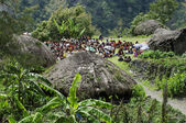 Christian preaching in the Papuan village — Stock Photo