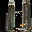 Stock Photo: Night view of Petronas Twin Towers