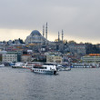 Stock Photo: Cruise ferries in Eminonu Port near Yeni Cami and Galata Bridge