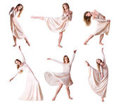 Set of photos modern style dancer — Stock Photo