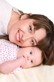 Baby and his mother — Stock Photo