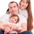 A father and mother are holding their daughter — Stock Photo