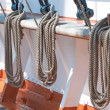 Ropes on a sailboat — Foto Stock