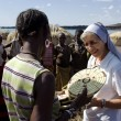 Stock Photo: Nuns of Christichurch buy handicrafts africtribe