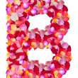 Stock Photo: Letter B made from colorful petals rose