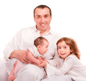 Vader en kinderen — Stockfoto