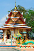 Scultura presso il tailandese tempio wat chavamangkalaram sull'isola di penang, malaysia — Foto Stock