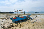 Fisherman's boat in Bandar Lampung, Sumatra, Indonesia — Stock Photo
