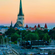 Evening scenic summer view of Tallinn, Estonia.  — Stock Photo
