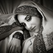 Beautiful  woman in traditional indian costume  — Foto Stock