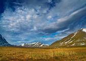 Krajobraz gór ural polarny — Zdjęcie stockowe