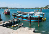 Oude haven in mombasa — Stockfoto