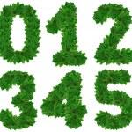 Set of numbers . Christmas tree — Stock Photo #33347851