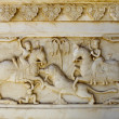 Detail of carved relief at Gatore Ki Chhatriyan in Jaipur,  Rajasthan, India. — Stock Photo