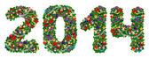 2014. decoración del árbol de Navidad de — Foto de Stock