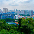 Top view of Singapore City  — Stock Photo