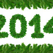 2014, christmas tree font — Stock Photo