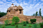 Temple in Khajuraho. Madhya Pradesh, India — Foto Stock