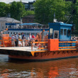 Passenger ferry on the Aura river in Turku, Finland — Stock Photo