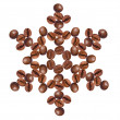 Snowflake made of coffee beans — Stock Photo