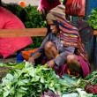 Green vegetable displayed for sale at a local market in Wamena — Stock Photo