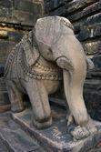 Stone sculpture in Hindu temple in Khajuraho, India. — Stock Photo