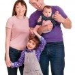 Beautiful happy family. Father, mother and children — Stock Photo