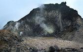 Sibayak volcano at island Sumatra — Stock Photo