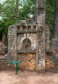 Remains of Gede, near the town Malindi in Kenya, Africa — Stock Photo