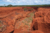 Landscape with Soil Erosion, Kenya — Stock Photo