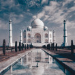 Stock Photo: Taj Mahal in Agra, Uttar Pradesh, India