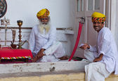 Local people in the Mehrangarh Fort in Jodhpur, India. — ストック写真