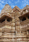 Chrám v khajuraho. madhya pradesh, indie — Stock fotografie